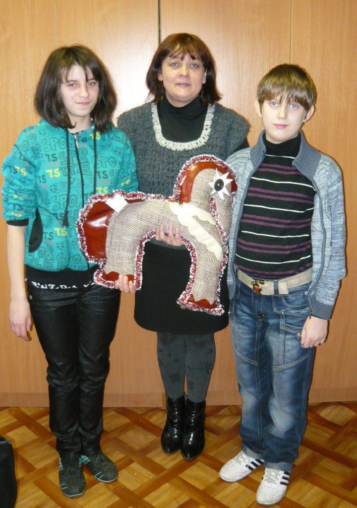 Маша  и Влад с Мариной Викторовной