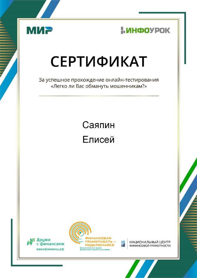 Сертификат_тестирования Саяпин